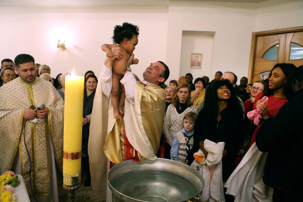 Catholic Christmas mass in Lviv